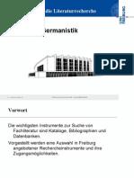Literaturrecherche Germanistik UB Freiburg
