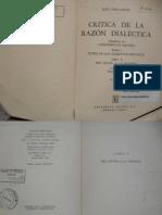 Sartre, JP. CRÍTICA DE LA RAZÓN DIALÉCTICA TOMO II
