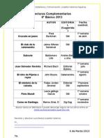 Lecturas Complementarias 8 2013
