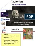Java Aula10 Encapsulamento