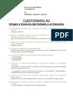 Cuestionarios No. 2 y 3 y Analisis
