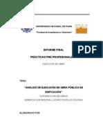 informe sub región obras