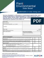 1-5 Solar Boost- Questionnaire
