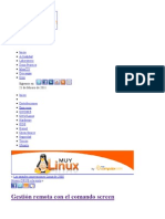 Gestión remota con el comando screen - MuyLinux