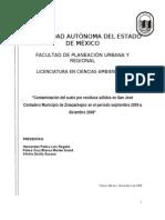 Contaminación por residuos sólidos en San José Contadero
