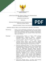 Kepmenaker NO 609 Tahun 2012 Ttg Pedoman Penyelesaian Kasus Kecelakaan Kerja Dan Penyakit Akibat Kerja
