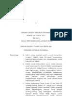 Uu Nomor 24 Tahun 2011 Badan Penyelenggara Jaminan Sosial