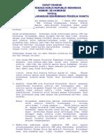 Se-04 Men 88 Ttg Pelaksanaan Larangan Diskriminasi Pekerja Wanita