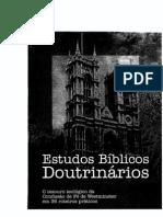 36 ESTUDOS BIBLICOS DA CONFISSÃO DE FÉ DE WESTMINSTER