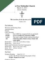 3-31-13 Bulletin Easter Sunday