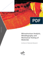 Microstructure Analysis Metallography Mechanical Testing