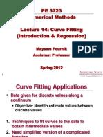 Lecture 14 - Curve Fitting (Intro&Regression)