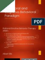 Behavioral and Cognitive-Behavioral Paradigm