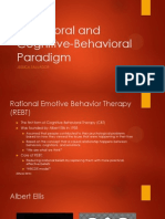 Behavioral and Cognitive-Behavioral Paradigm