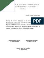 Organizacion, Clasificacion e Interpretacion de La Informacion Como Guia Del Ingeniero Industrial