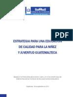 Documento Estrategia para una Educación de Calidad2