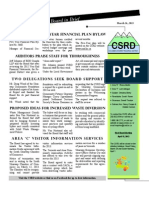 CSRD March Board in Brief