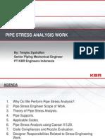 Pipe Stress Analysis Work