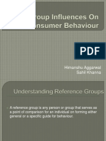 Group Influences on Consumer Behaviour