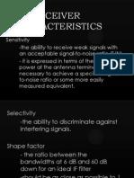 receiver characteristics