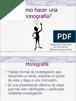 Como Hacer Una Monografia 2010