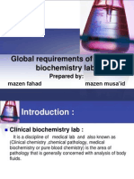 Global Requirements of Clinical Biochemistry Lab