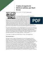 Contra El Negocio de Fabricar Noticias-Karl Krauss