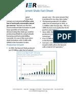 Barnett Shale Fact Sheet
