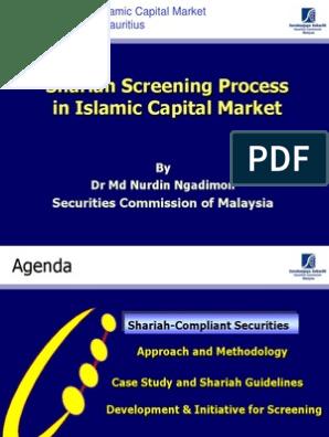 Shariah Screening Process in Islamic Capital Market