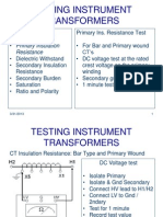 Testing and Commissioning Instrument-Transformers