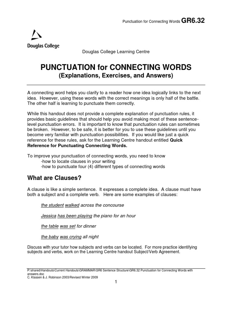 a connecting word