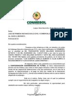 Nota de La Conmebol Al Juez 165416