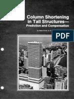 Vertical Shortening in Columns