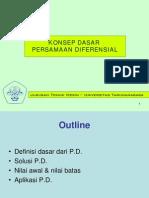 Konsep Dasar Persamaan Diferensial Pertemuan1