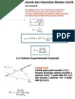 4. Hukum Coulomb Dan Intensitas Medan Listrik