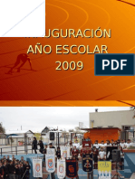 INAUGURACIÓN AÑO ESCOLAR 2009