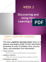 Discovering and Using your Learning Style