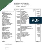 PCM Balance Sheet