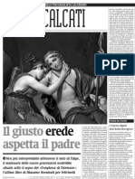 Il rinnovamento della psicanalisi nell'ultimo libro di Massimo Recalcati - Alias de il Manifesto 31.03.2013