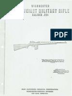 Winchester Lightweight Military Rifle Caliber .224 USA 1958
