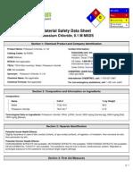 Msds Potassium Chloride 0.1M