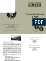 Joint Special Operations University, Operationalizing COIN, 2005, Richard J. Campbell