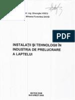 Instalatii Si Tehnologii Pentru Prelucrarea Laptelui