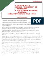 Intrebarile Examen Chirurgie Anul v 2013 by Medtor