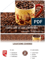 COSTA CAFÉ VS CAFÉ COFFEE DAY