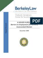 Women Offenders Employment