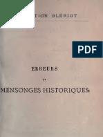 Barthélemy Charles - Erreurs et mensonges Historiques - Tome 02