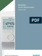 RDG RDF Room Thermostats A6V10254838 Hq En