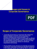 Challenges and Issues in Corporate Governance