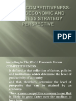 Global Competitiveness- Macroeconomic and Business Strategy Perspective